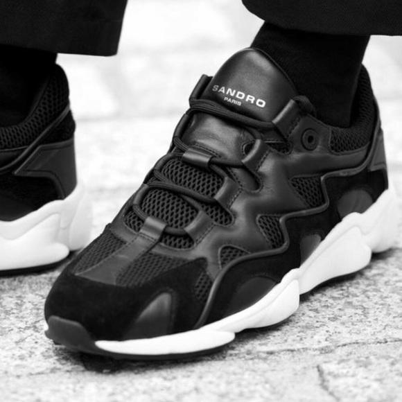 Nib Sandro Paris Men Suede Sneakers
